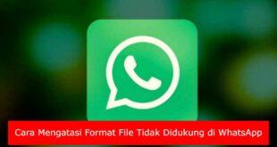 Cara Mengatasi Format File Tidak Didukung di WhatsApp