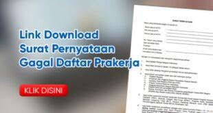 Surat Pernyataan Gagal Daftar Kartu Prakerja Terbaru