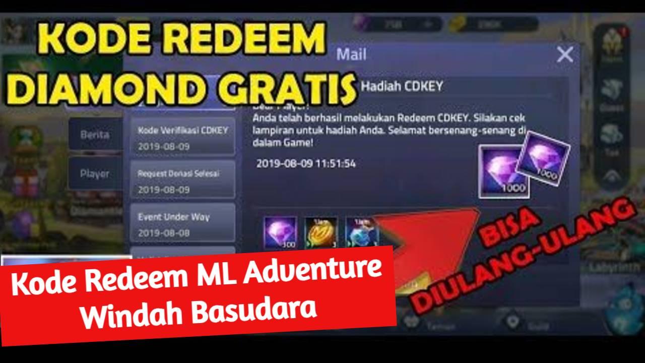 Kode Redeem ML Adventure Windah Basudara