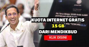 Kuota Internet Gratis 15 GB Dari Kemdikbud